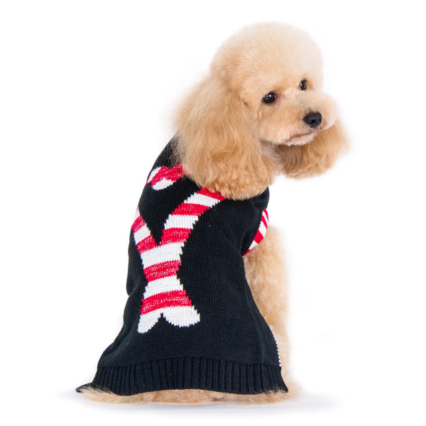 Dogo Pet Candy Cane Dog Sweater