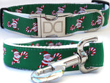 Candy Cane Santa Nylon Adjustable Dog Collar - Rocco's Pets  - Collars - Diva Dog  - 3