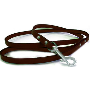 Carlyle Leather Dog Leash - Rocco's Pets  - Leashes - Diva Dog