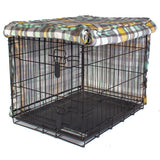 Molly Mutt Northwestern Girl Plaid Dog Crate Cover