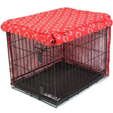 Lady in Red Dog Crate Cover - Rocco's Pets  - Crate Cover - Molly Mutt  - 2
