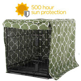 Dew in Grass Outdoor Dog Crate Cover- Water Resistant