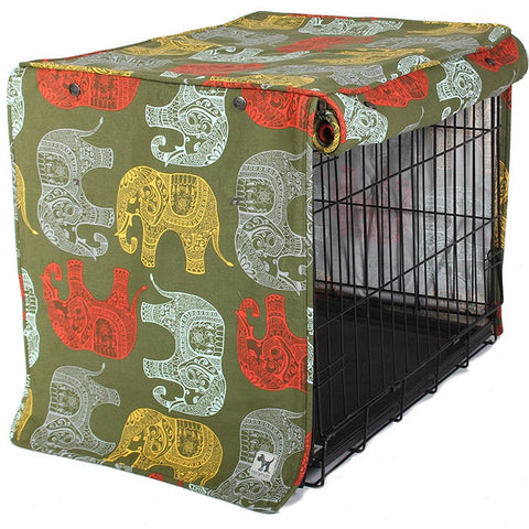 Elephant Parade Dog Crate / Kennel Cover