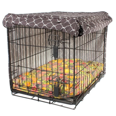 Molly Mutt  Dog Crate Cover Clark Gable Grey