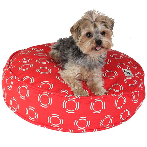 Lady in Red Round Dog Bed Duvet