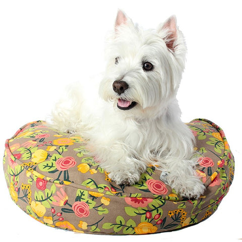 Time After Time floral Round Dog Bed Duvet