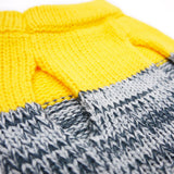 Color Block Dog Sweater Yellow & Grey