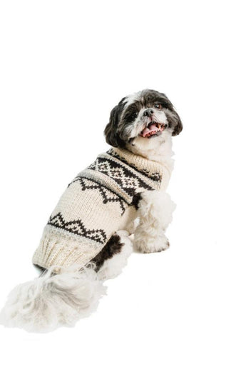 Chilly Dog Alpaca Cream Wyatt Handmade Dog Sweater