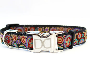 Ibiza on Springtime Ribbon Dog Collar