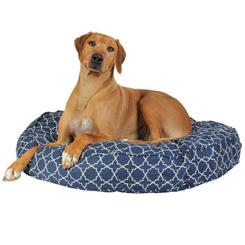 Romeo & Juliet Round Dog Bed Duvet - Rocco's Pets  - Dog Bed - Molly Mutt