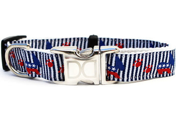 Democrat Dog! Adjustable Nylon Dog Collar - Rocco's Pets  - Collars - Diva Dog Teacup