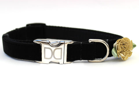 "Black Velvet Dog Collar ""A Formal Affair"""