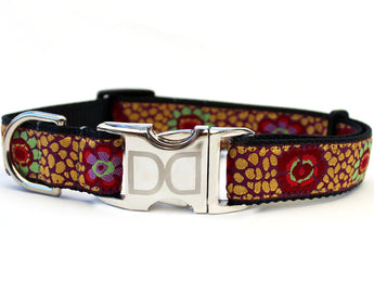 24 Karat Kaleidoscope Adjustable Dog Collar