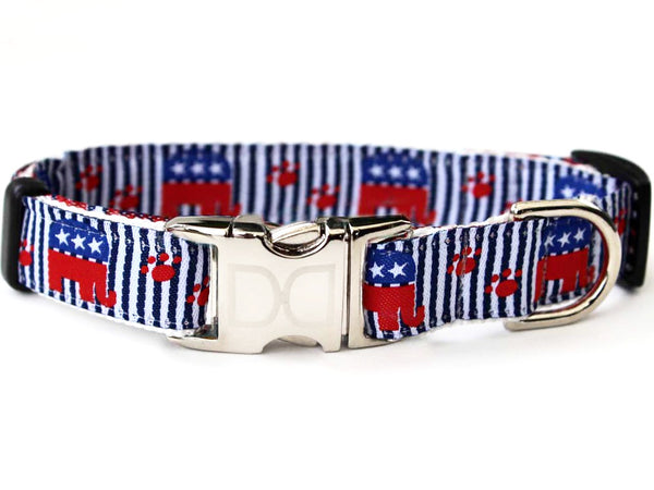 Republican Dog! Adjustable Nylon Dog Collar - Rocco's Pets  - Collars - Diva Dog  - 1