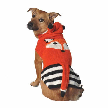 Handmade Organic Wool Dog Sweater - Fox with Hood - Rocco's Pets  - Sweater - Rocco's Pets  - 1