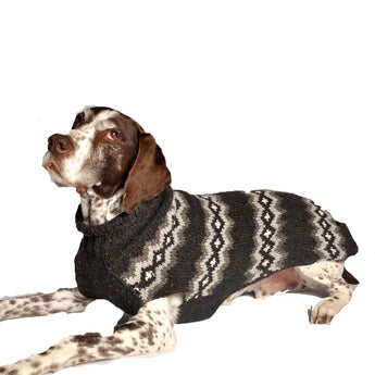 "Handmade ""Grey Diamonds"" Organic Wool Dog Sweater - Rocco's Pets  - Sweater - Rocco's Pets"