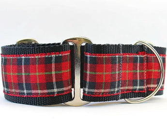 Highlander Plaid Red Martingale Dog Collar