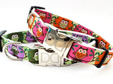 H'Owl Halloween Adjustable Nylon Dog Collar - Rocco's Pets  - Collars - Diva Dog  - 1