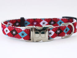 Modern Christmas Adjustable Ribbon Dog Collar