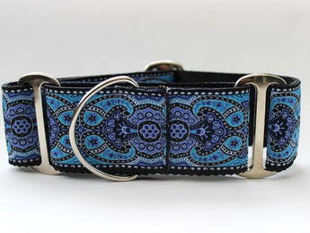 Martingale Dog Collar Peacock Blue - Kashmir Collection
