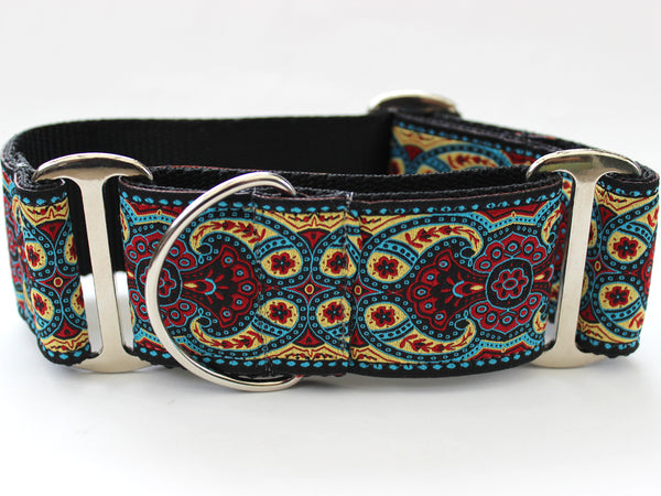 Martingale Dog Collar Temple Red - Kashmir Collection