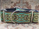 Martingale Dog Collar Teal - Kashmir Collection