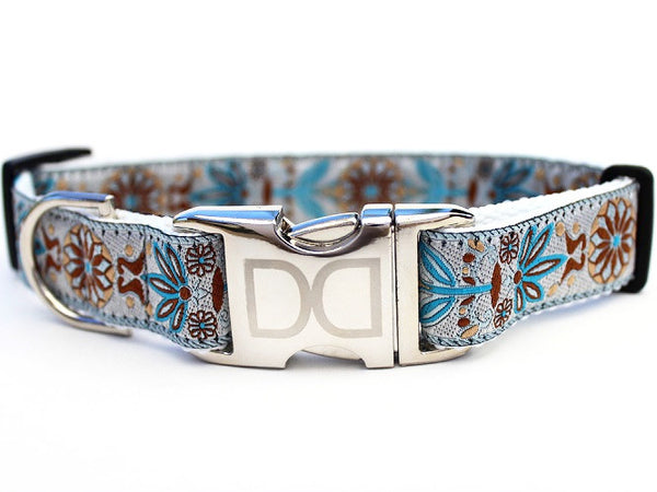 Boho Morocco Adjustable Nylon Dog Collar - Rocco's Pets  - Collars - Diva Dog Teacup - 1