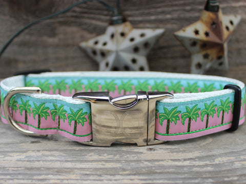 Pink Ribbon Dog Collar South Beach