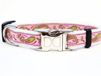 Boho Pastel Adjustable Nylon Dog Collar - Rocco's Pets  - Collars - Diva Dog Teacup - 1