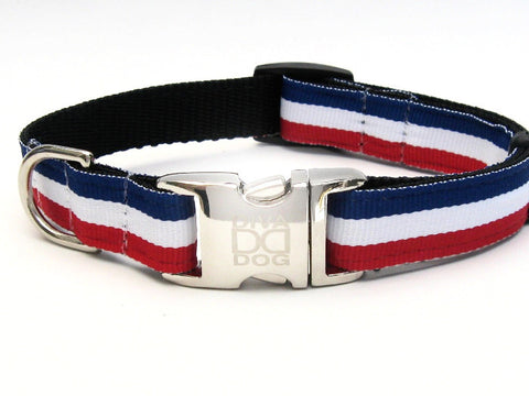 Patriotic Pooch Adjustable Nylon Dog Collar Metal Buckles - Rocco's Pets  - Collars - Diva Dog  - 2