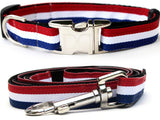 Patriotic Pooch Adjustable Nylon Dog Collar Metal Buckles - Rocco's Pets  - Collars - Diva Dog  - 1