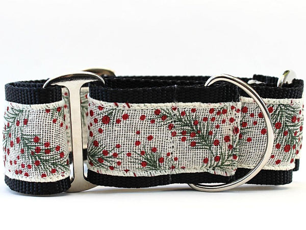 Martingale Dog Collar Pine Berry