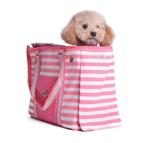 Pink Canvas Tote Pet Carrier