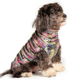 Chilly Dog Purple Woodstock Cable Knit Wool Dog Sweater