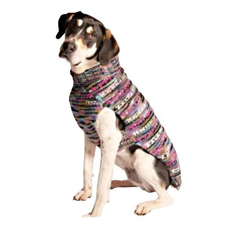 Handmade Purple Woodstock Cable Knit Organic Wool Dog Sweater - Rocco's Pets  - Sweater - Rocco's Pets  - 1