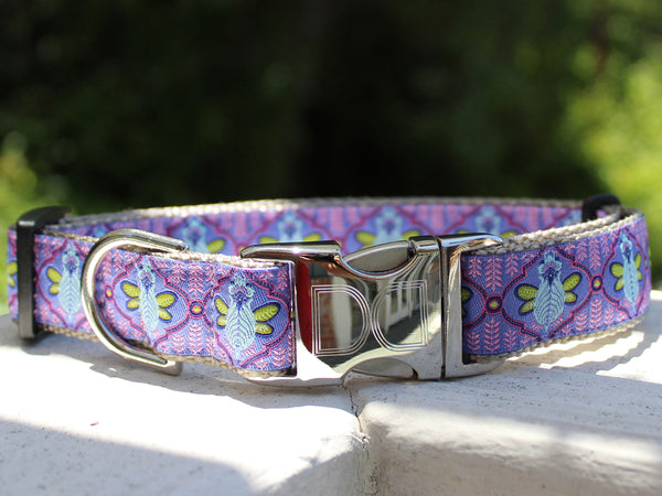 Queen Bee Blueberry Adjustable Dog Collar