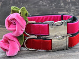 Rosie Velvet Adjustable Dog Collar