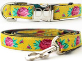 Spanish Rose Adjustable Dog Collar