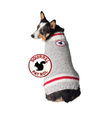 Chilly Dog Squirrel Patrol Wool Dog Sweater