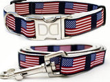 Stars N Stripes Patriotic Nylon Dog Collar
