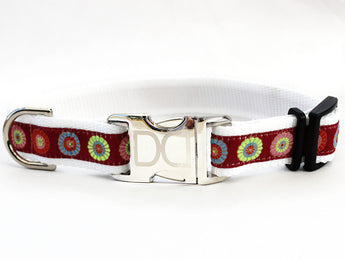 Sahara Rose Adjustable Ribbon Dog Collar