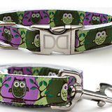 H'Owl Halloween Adjustable Nylon Dog Collar - Rocco's Pets  - Collars - Diva Dog Teacup / Purple - 2