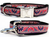 Malibu Beach Adjustable Nylon Dog Collar - Rocco's Pets  - Collars - Diva Dog Set: M/L Collar & Leash ( Collar 1 in.x16-24 in-Leash:1 in.x 48 in.) - 3