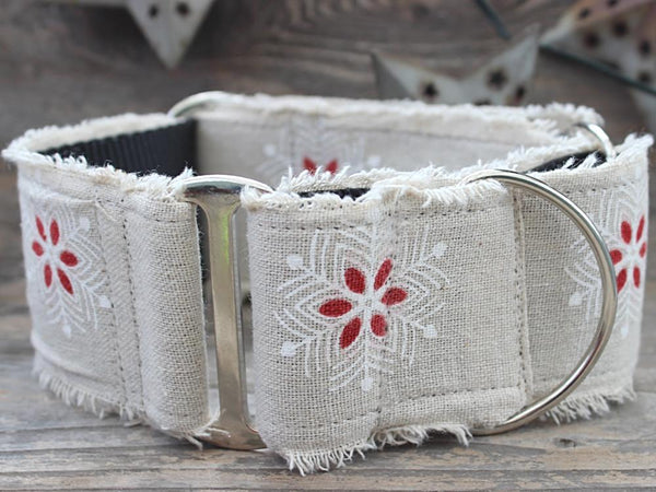 Vintage Noel Martingale Dog Collar