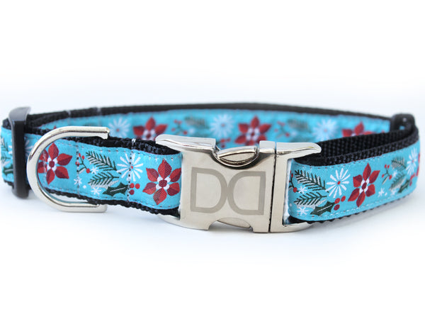 Winterberry Holiday Ribbon Adjustable Dog Collar