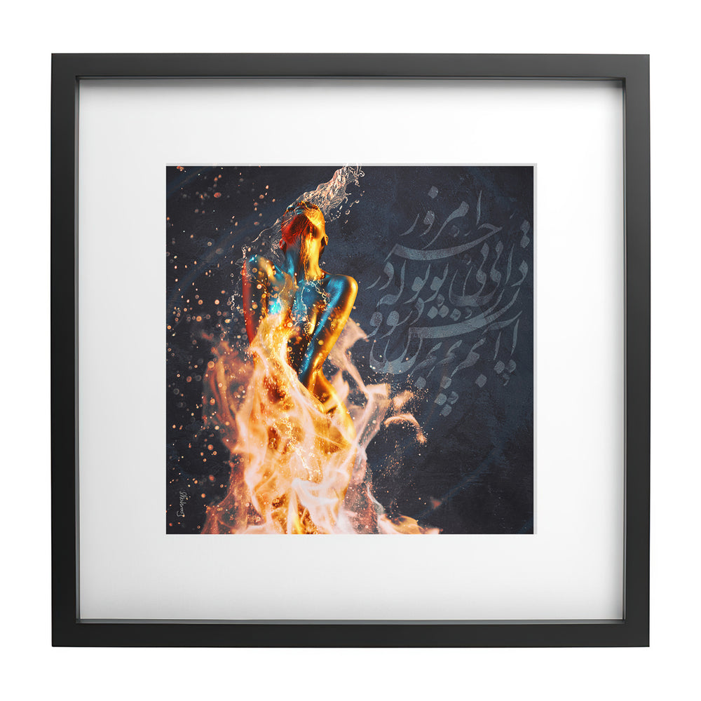 Fire and Water - Ready Framed Print