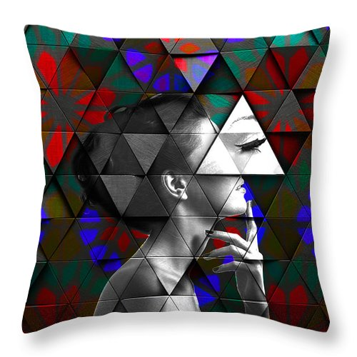 Eye Lashes - Throw Pillow