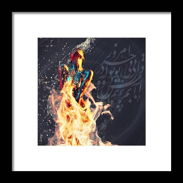 Fire and Water - Framed Print