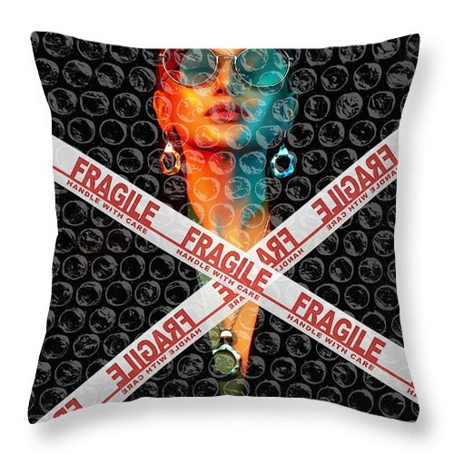 Fragile - Throw Pillow