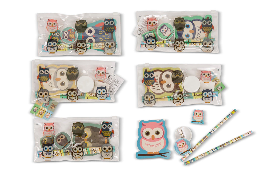 Owl Filled Pencil Case